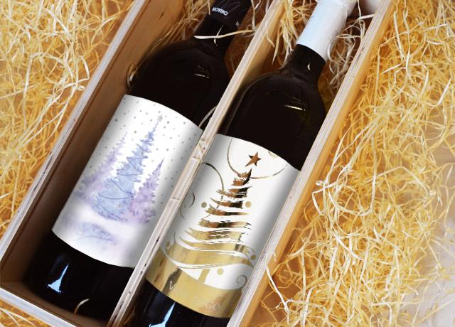 Karácsonyi címkék üvegekre