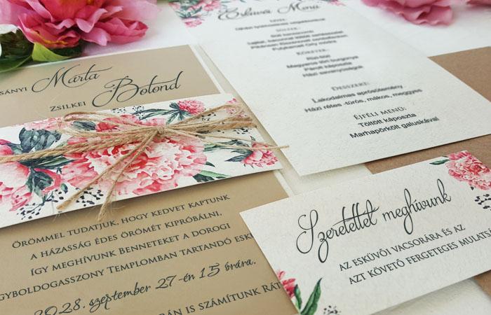 Különleges esküvői meghívók